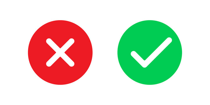 Yes and No icon signs