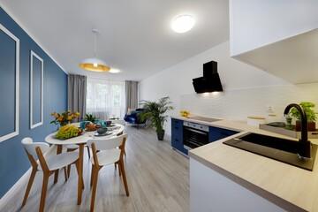 Fototapeta Komfortowy pokój gościnny, mieszkanie obraz