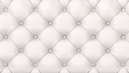 Fototapeta tufted white leather background. obraz