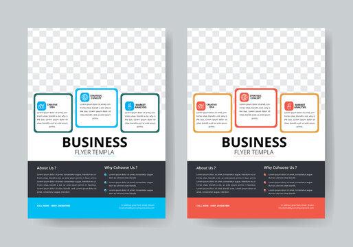 Business flyer template vector design, Flyer Template
