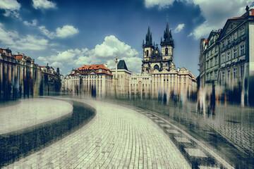 Obraz Rynek starego miasta - fototapety do salonu