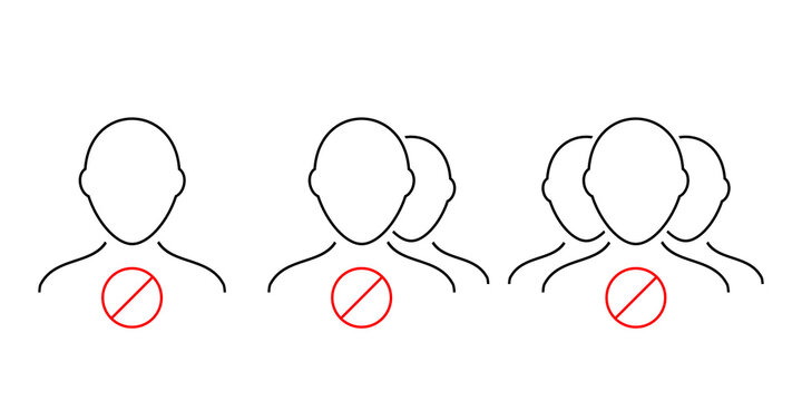Blocked users, blacklist icon. Stop group icon. Illustration vector.