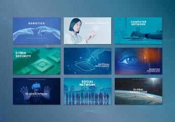 Fototapeta Technology Business Innovation Presentation Layout obraz
