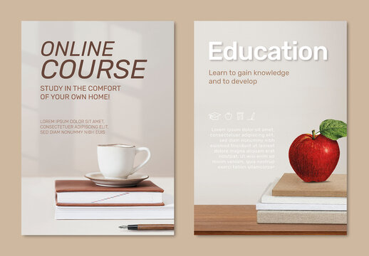 Editable Education Poster Layout