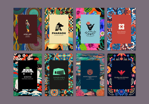 Ethnic Pattern Layout for Branding