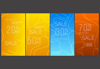 Fototapeta Social Media Post Layout with Bright Gradient Spots and Stripes obraz