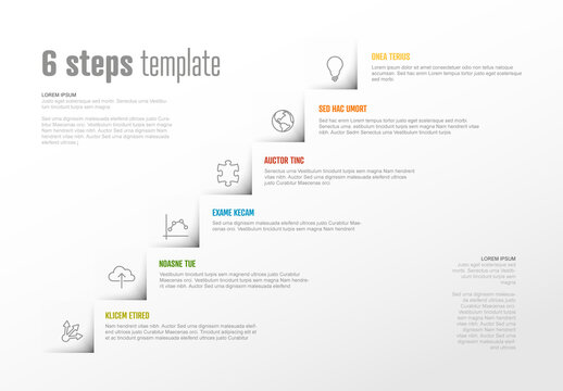 Infographic Steps Diagram Layout for Workflow or Procedure Diagram