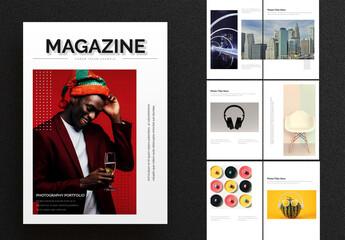 Fototapeta Clean and Simple Magazine Layout obraz