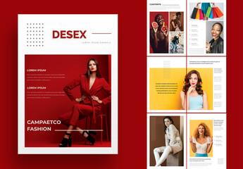 Fototapeta Fashion Magazine Layout obraz