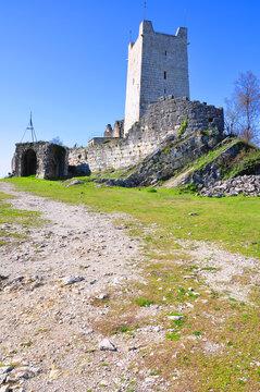 Anakopia fortress on the Iverskaya mountain. New Athos, Abkhazia