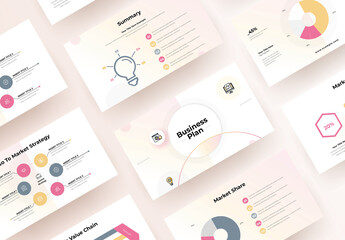 Fototapeta Business Plan Presentation Template obraz