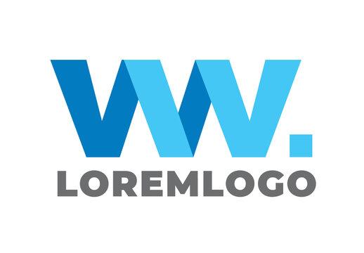 World Wide Ww Letter Travel Agency Logo