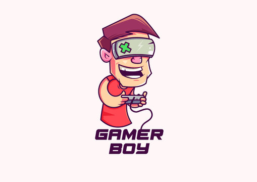 Gamer Boy Logo is great for Gamers, Online Games, Game Titles, Youtube Game Bloggers, Youtubers, Twitch, Mobile Games, Game, Online Streaming Games, Product Title, Guild or Clan Logo