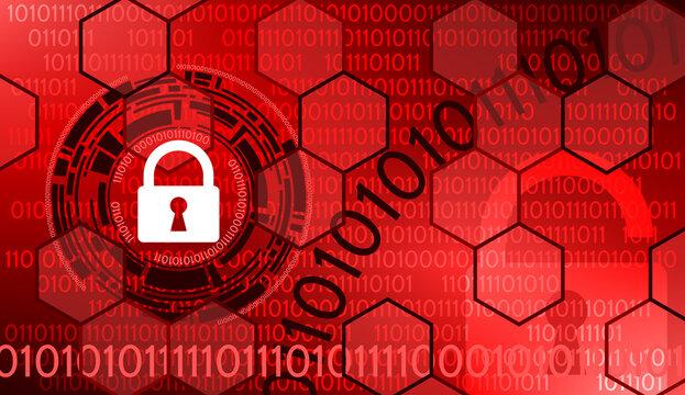 Code Binaire Internet et Sécurité Rouge