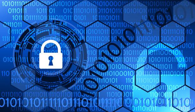 Code Binaire Internet et Sécurité Bleu