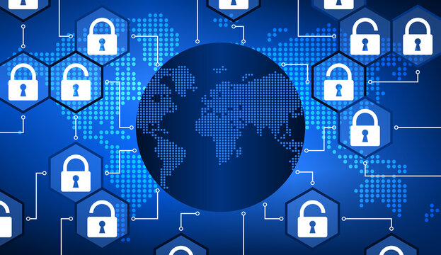 Réseau Mondial Internet et Sécurité Bleu