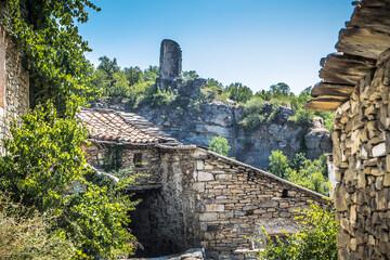 Fototapeta Turmruine in Montanana, Katalonien obraz