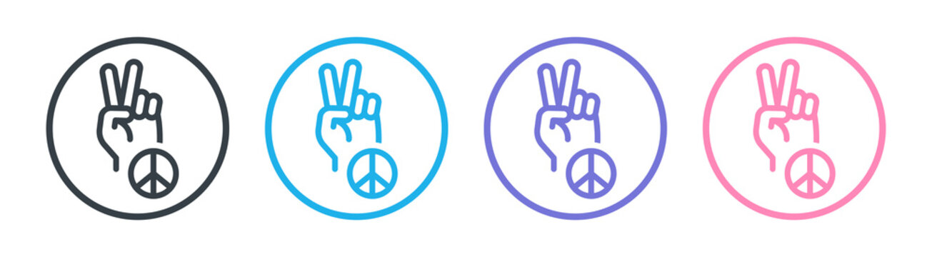 Peace sign icon vector illustration.