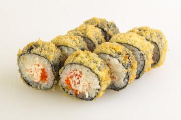 Fototapeta Japanese tempura roll with fish obraz