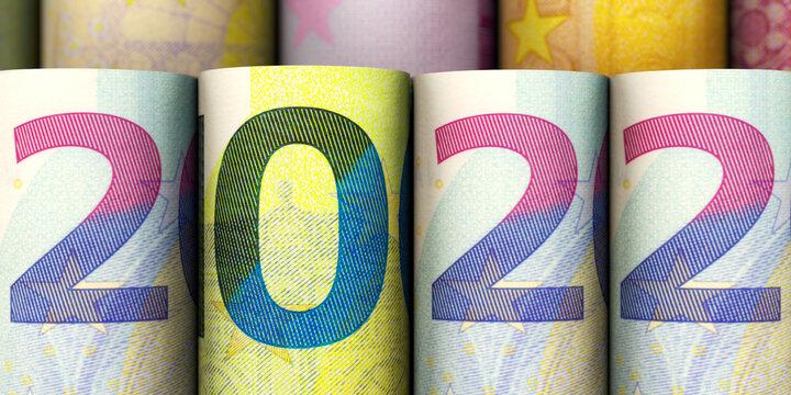 Jahreszahl 2022 aus Euroscheinen