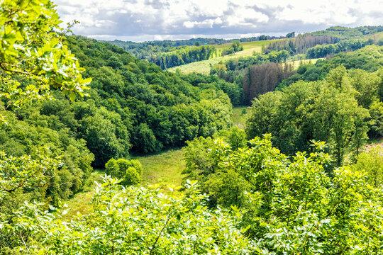 Blick vom Hölderstein ins Grenzbachtal im Westerwald