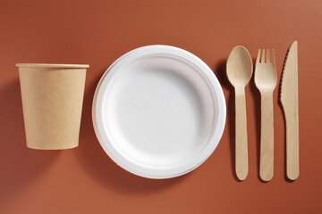 Disposable eco-friendly dishes