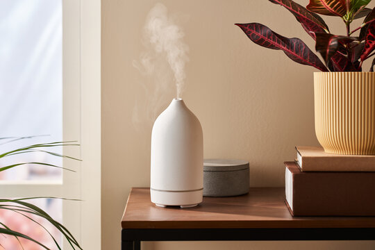Humidifier on the table.