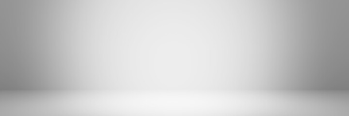 Abstract pastel gray color and gradient white light background in studio table backdrops display product design. Blank empty space room for showing. Blur 3D render podium stage grey texture pattern.