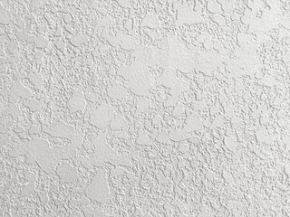 White concrete wall grunge background, cement construction material texture backdrop