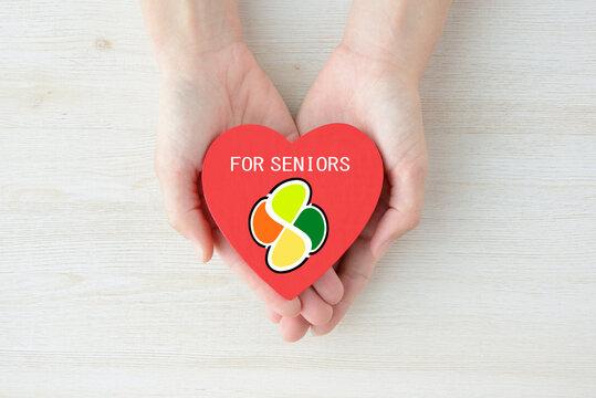 高齢者のヘルプ・サポート・支援イメージ