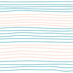 Vector seamless pattern with colorful hand-drawn stripes