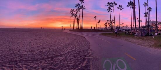 lavender sunset at beach