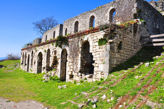 The ruins of a 19th century chapel on Iverskaya Mountain. New Athos, Abkhazia
