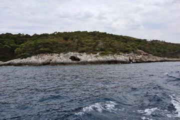 Fototapeta Isole Tremiti - Cala dello Zio Cesare dalla barca obraz