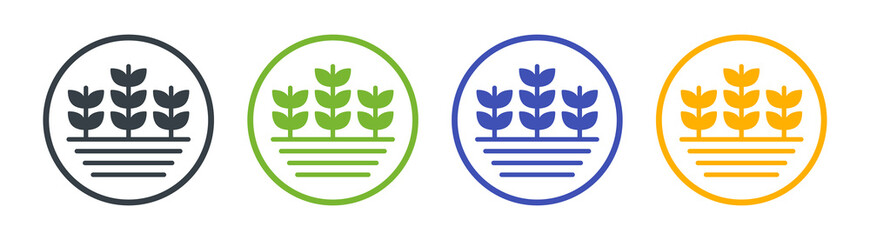 Fototapeta Agriculture crops icon. Farm plant symbol vector illustration. obraz