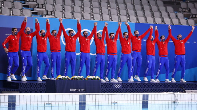 Water Polo - Men - Medal Ceremony
