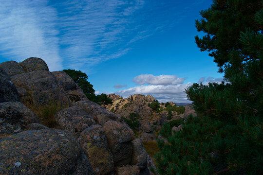 góry krajobraz widok niebo chmury