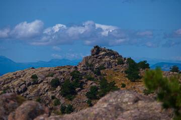 Fototapeta góry krajobraz widok niebo chmury obraz