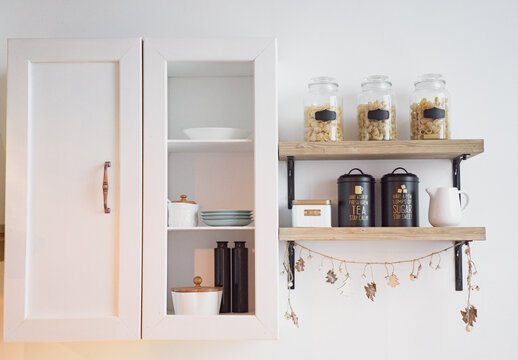 Scandinavian style kitchen interior