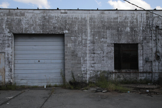 old abandoned warehouse building