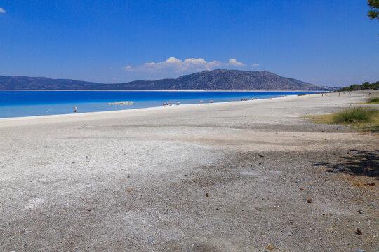 Lake Salda national park in Burdur, Turkey
