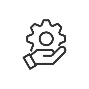Premium engineering line icon for app, web and UI.
