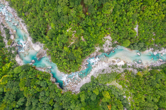 River soca from above