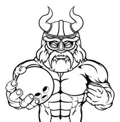 Viking Bowling Sports Mascot