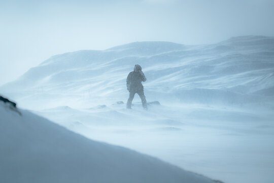 Walking trough a storm