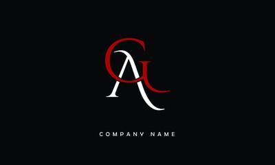 Fototapeta AG, GA, A, G Abstract Letters Logo Monogram obraz