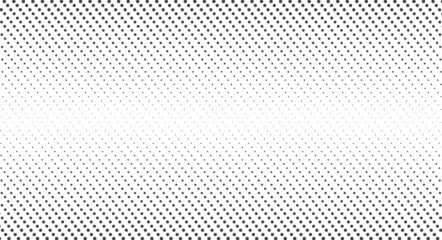 Halftone dots. Monochrome vector texture background. Flat vector illustration isolated on white