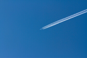 Fototapeta Samolot i smuga obraz