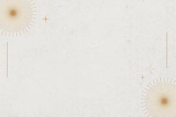 Obraz Minimal mystical background vector with gold burst border - fototapety do salonu