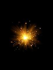 sparkler on black background